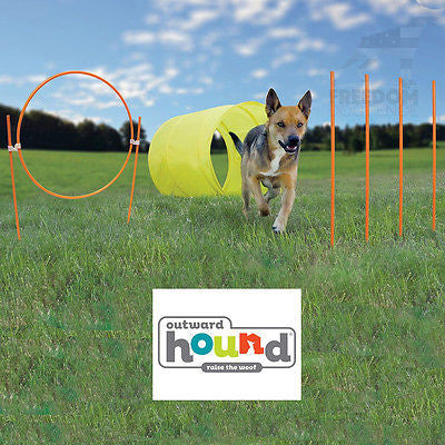 Outward Hound Zip & Zoom Outdoor Agility Kit Training (34 piece set)