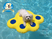 Paws Aboard Doggy Lazy Raft Dog Swimming Pool Small Water Float for Dogs <30Lbs