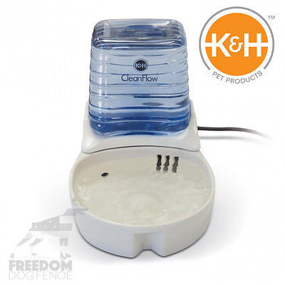 K&H Pet Products CleanFlow Ceramic Filtered Water Fountain 170oz. White or Black