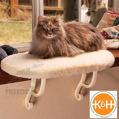 KH Mfg Heated Thermo Ortho Orthopedic Kitty Sill Cat Window Bed Perch KH3095