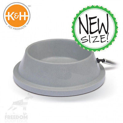 K&H Pet Products Granite Plastic,Thermal, Heated Pet Bowl, 1.5 Gallon, KH2020