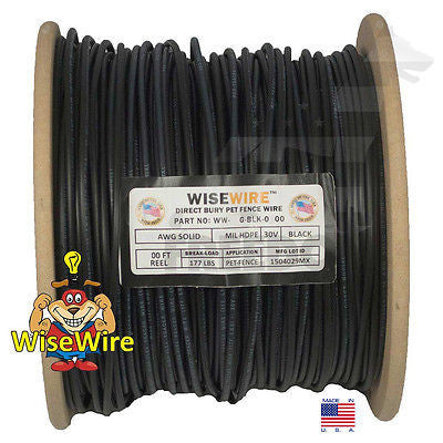 World's Strongest Dog Fence Wire 16 Gauge Solid Core 1000' Feet WiseWire +Splice