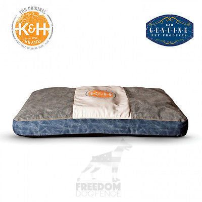 K&H Pet Products Vintage Classic Pet Bed w/ Logo Small/Large Brown or Gray