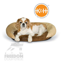 K&H Pet Products Self-Warming Bolster Dog or Cat Bed Chocolate/Tan or Gray/Black