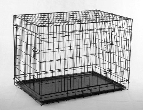 X-Large 2 Door Dog Crate/Cage/Kennel with Tray Pan