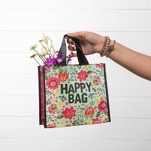 Turquoise Happy Medium Recycled Bag