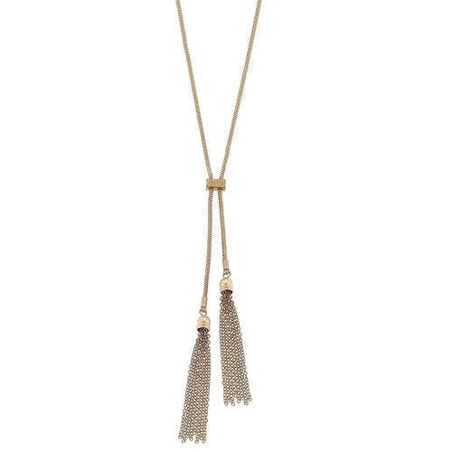 Lariat with Chain Tassels