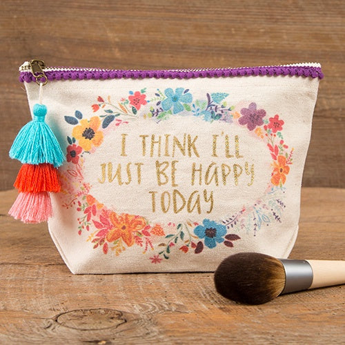 I Think I'll Just Be Happy Canvas Pouch