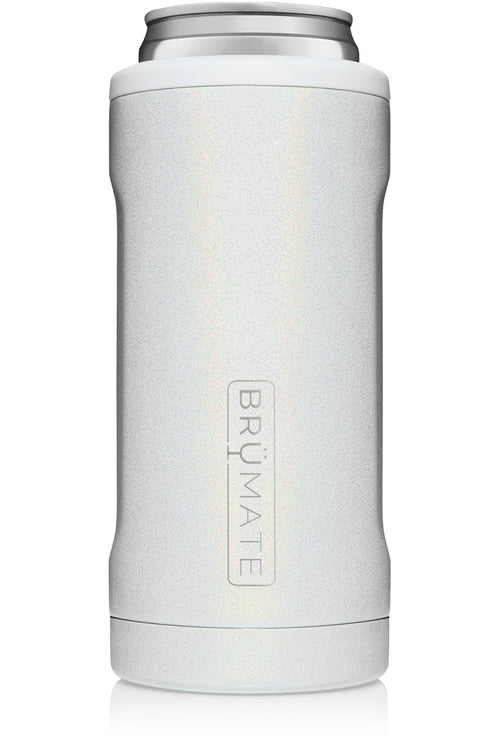 BruMate: Hopsulator Slim | Glitter White (12oz Slim Cans)