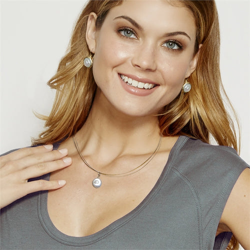 Single Flat Pearl Neclace