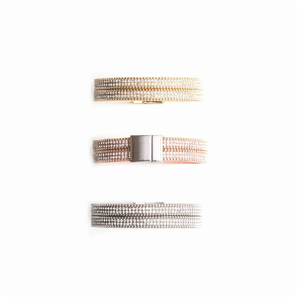 Double Row Glitz Magnetic Bracelet