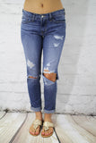 Can't Destroy Me Boyfriend Jeans - Flying Monkey