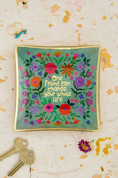 One Friend Can Change Your Life Glass Keepsake - Natural Life