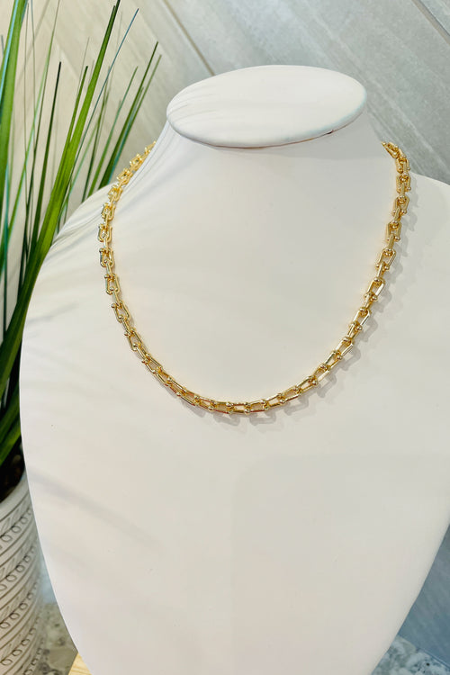 "16""-18"" Chain Necklace - Matte Gold"
