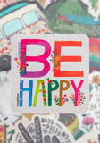 Be Happy Vinyl Sticker - Natural Life