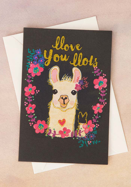 Llove you Llots Llama Greeting Card