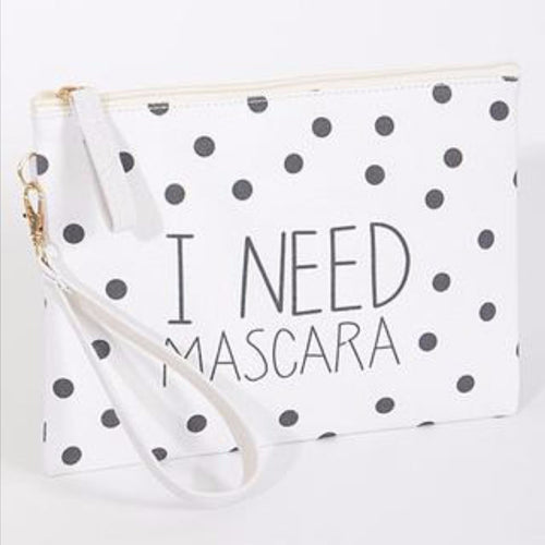 Printed Canvas Makeup Bag