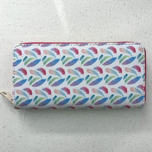 Fashion Printed Wallet - Feathers