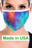 Tie-Dye Fashion Face Mask - Blue/Orange