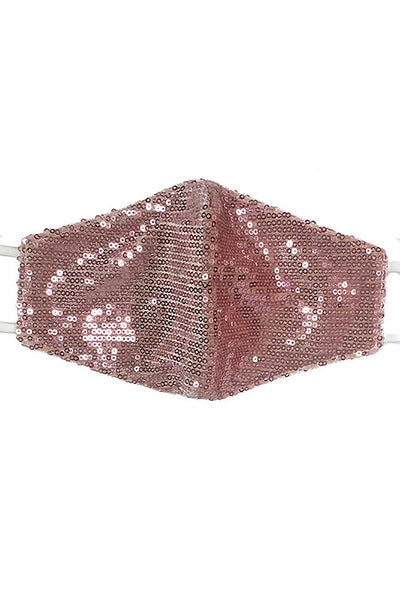 Sequin Fashion Face Mask - Blush