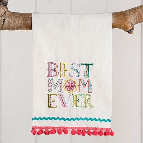 """Best Mom Ever"" Hand Towel"