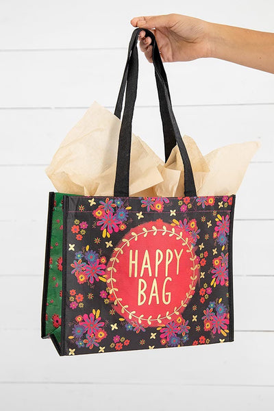 Gold Wreath Large Happy Bag - Natural Life