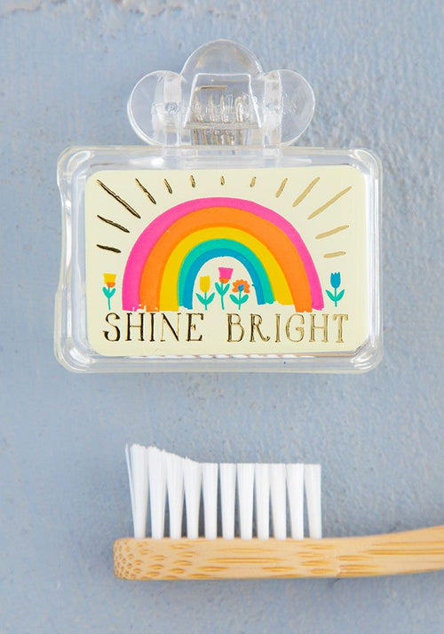 Natural Life Shine Bright Rainbow Tooth Brush Cover