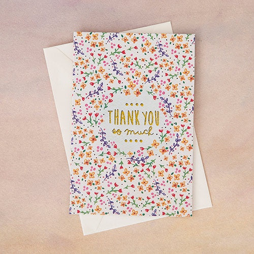 """Thank You so Much"" Greeting Card"