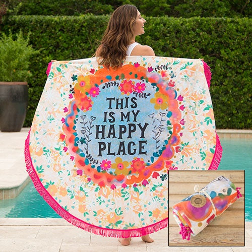 This Is My Happy Place Beach Towel Blanket