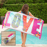 LOVE Beach Towel Blanket