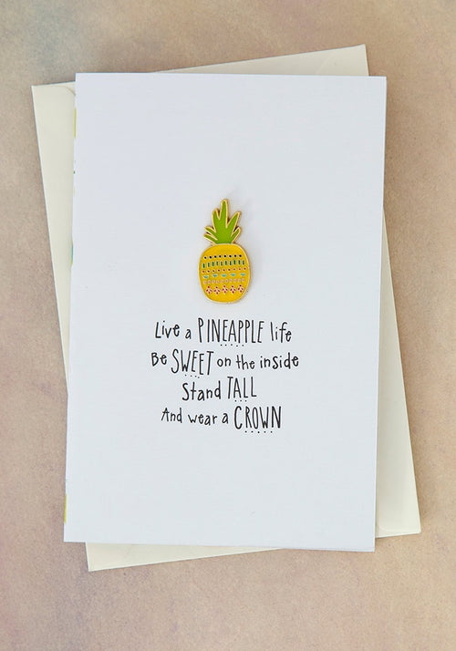 Pineapple Life Enamel Pin Card