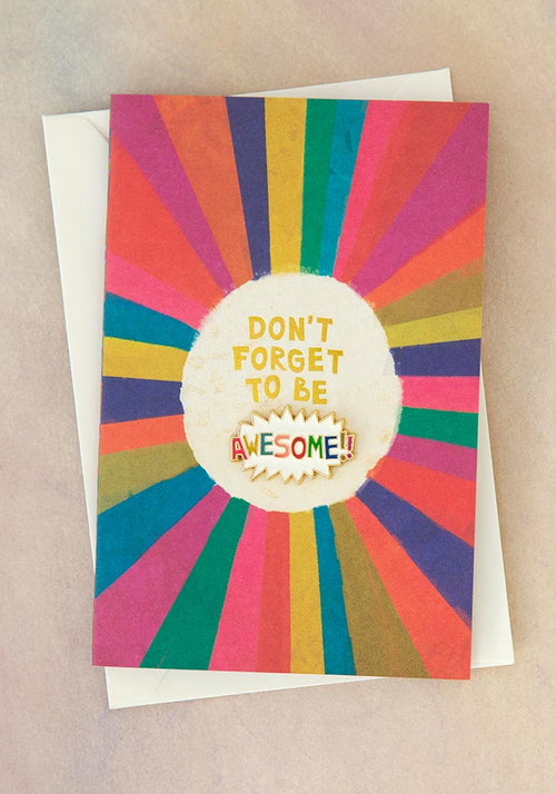 Be Awesome Enamel Pin Card