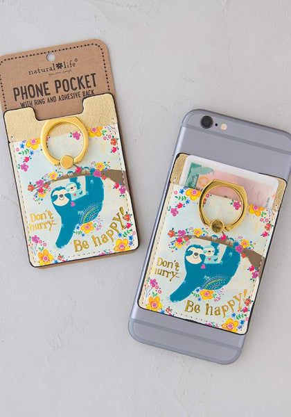 Don't Hurry, Be Happy Phone Pocket Ring