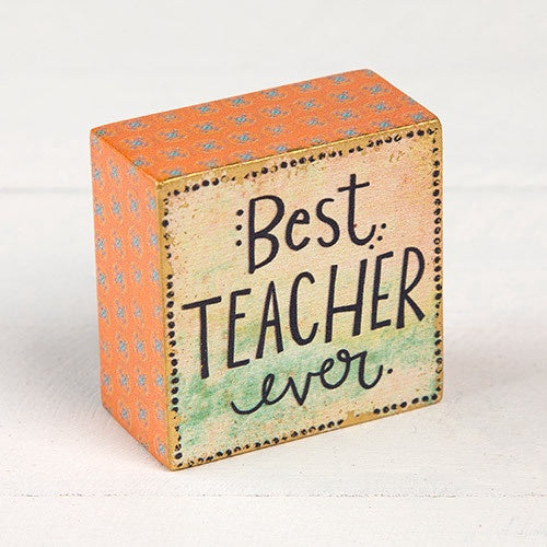 """Best Teacher Ever"" Tiny Block Keepsake"