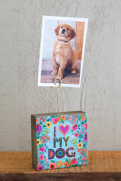 I Heart My Dog Photo Holder - Natural Life