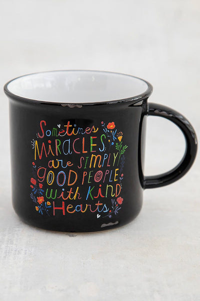 Miracles Good People Camp Mug - Natural Life