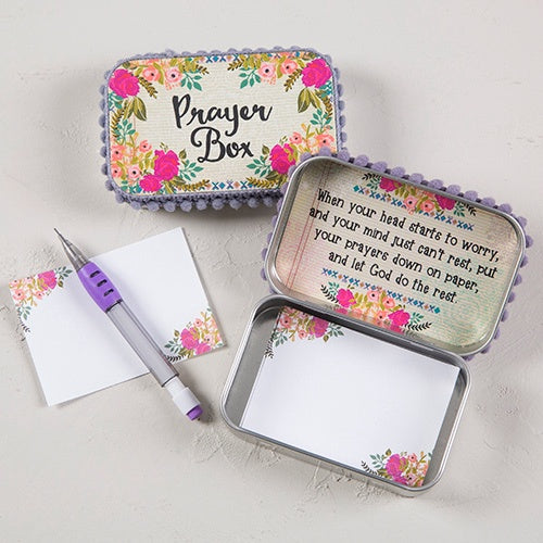 Prayer Box Cream Pink Roses