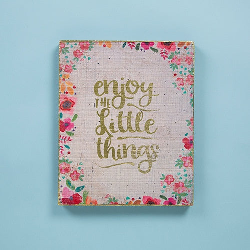 Enjoy The Little Things Bungalow Wall Art