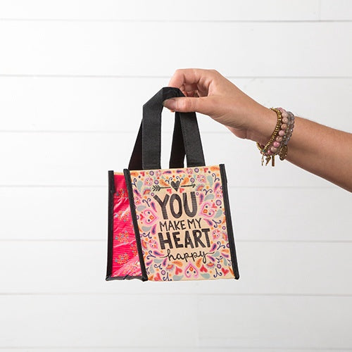 You Make My Heart Happy Small Recycled Bag