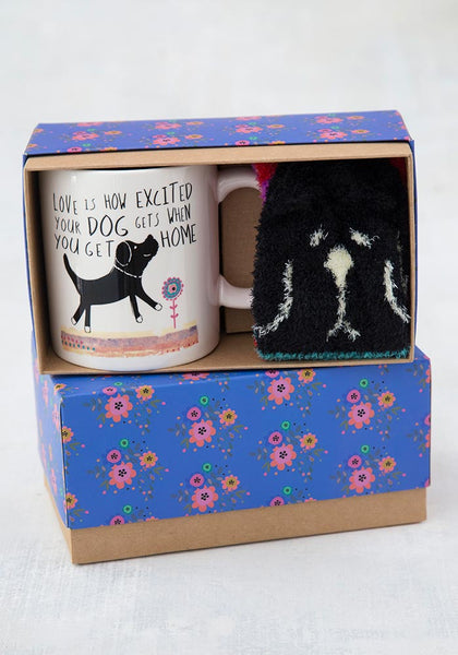 Love Is A Dog Mug & Cozy Sock Gift Set