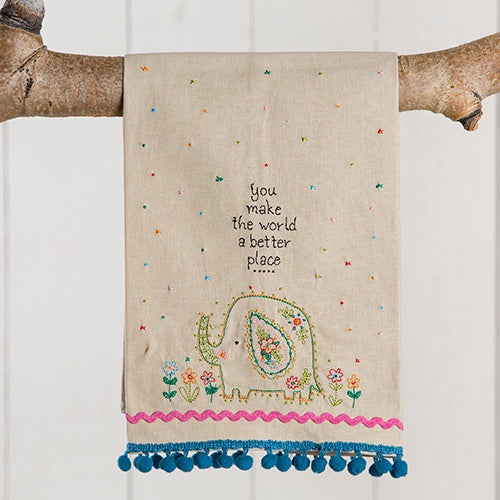 """World Better Place"" Hand Towel"