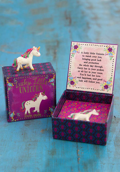 Natural Life Unicorn Lucky Charm