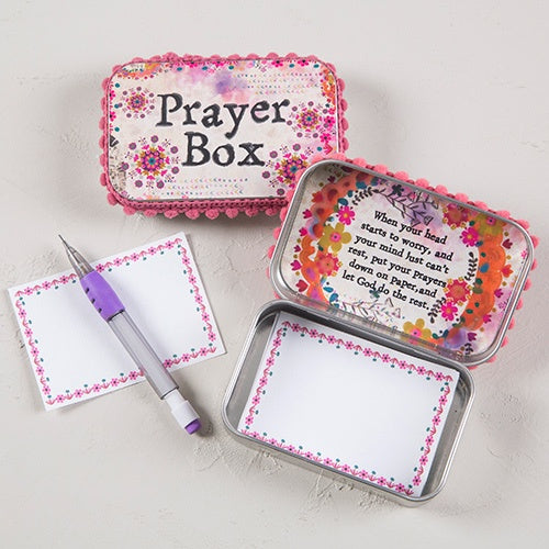 Pink and Purple Watercolor Prayer Box