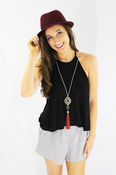 High Neck Swingy Tank