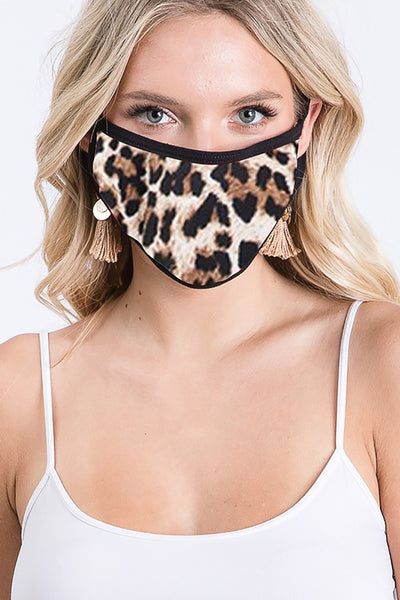 Fashion Face Mask Leopard Print - Brown