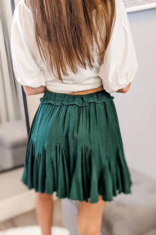 Ainsley Ruffle Skirt - H. Green