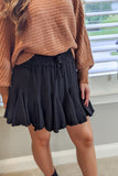 Ainsley Ruffle Skirt - Black