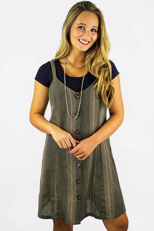 All Coming Back Dress - Olive
