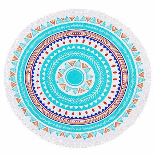 Round Beach Towel - Pumped for Print