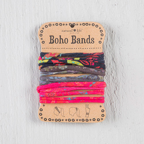Boho Bands Black Charcoal Pink Multi